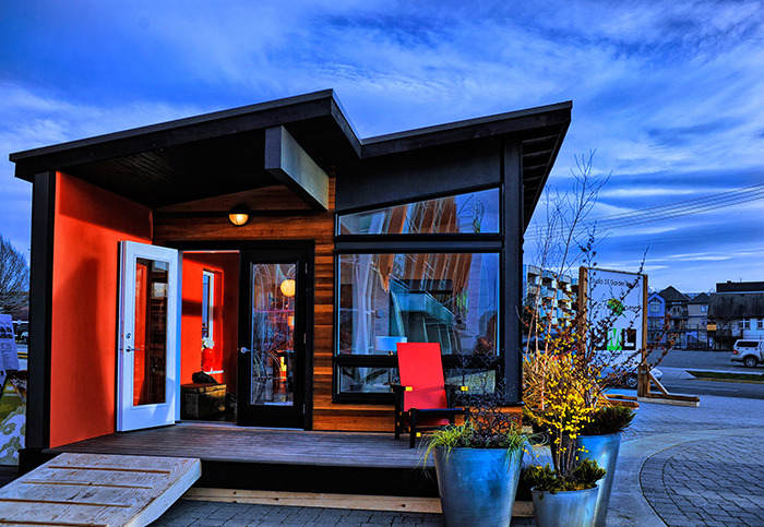 COACH HOUSES, SUCH as these manufactured by Island Timber Frame in the Comox Valley, could be seen around Comox as an alternative living space.