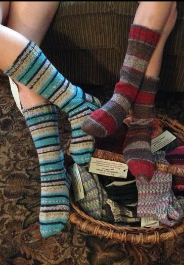Buying colourful socks for yourself will help to provide homeless people in the Comox Valley with store-bought socks distributed by the Comox Bay Care Society.