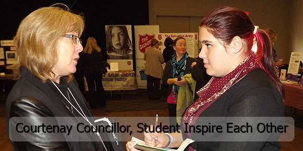 Courtenay Councillor, Student Inspire Each Other