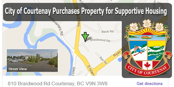 Courtenay Purchases Property for Supportive Housing